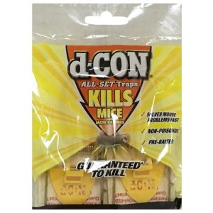 D-Con Pre-Bait Snap Wooden Traps 4ct