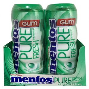Mentos Gum Bottles 15pc Spearmint