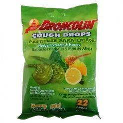 Broncolin Cough Drops 22ct Honey Lemon