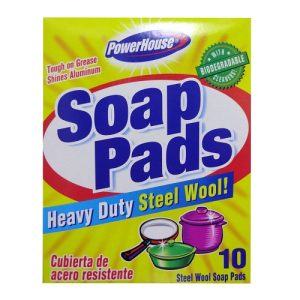 P.H Soap Pads 12ct Steel Wool W-Soap