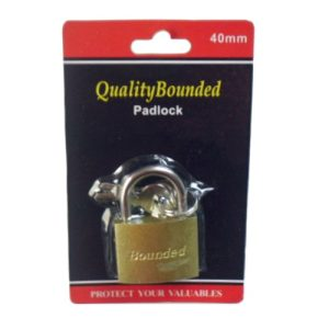 Padlock 40mm Brass