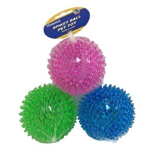 Pet Spikey Ball Asst Clrs