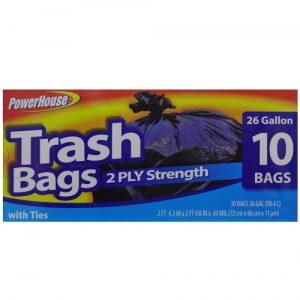 ***P.H Trash Bags 10ct 26 Gl 2-Ply