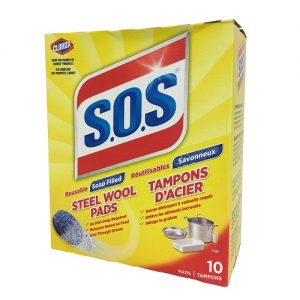 S.O.S Steel Wool Soap Pads 10ct