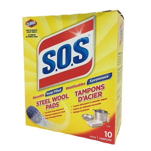 S.O.S Steel Wool Soap Pads 10ct