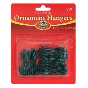 X-Mas Ornament Hangers 100ct Green