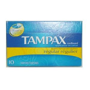 Tampax Tampons Regular 10ct Cardboard