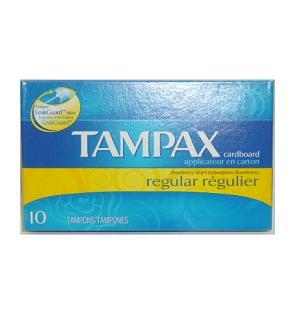 Tampax Tampons Regular 10ct Cardboard