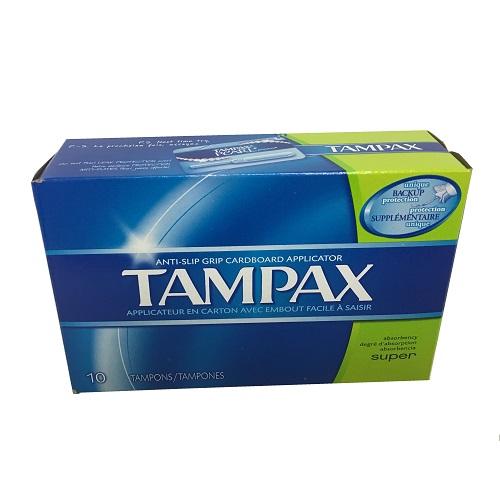 Tampax Tampons Super 10ct Cardboard