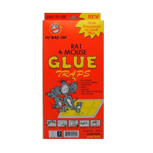 Rat AND Mouse Glue Traps 2pk Lg