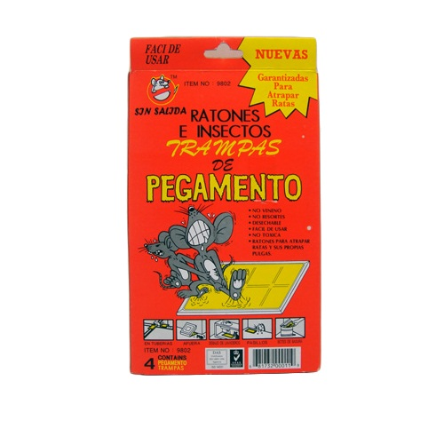 Mouse AND Insect Glue Traps 4pk