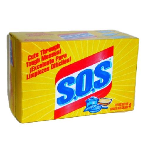 S.O.S Steel Wool Soap Pads 4ct