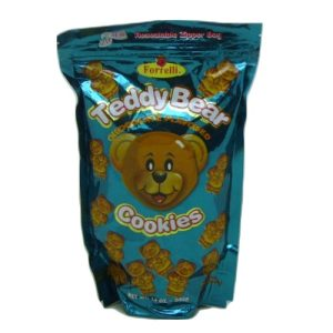 Forrelli Teddy Bear Choc Cookies 12oz