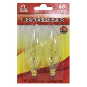 Candle Bulbs 40W Clear