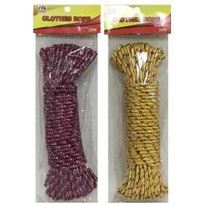 Clothes Rope 20m Asst Clrs