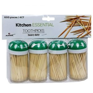 Toothpicks 4pk 600ct Wooden