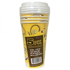 Axxion Ho-Cold Cups 5pk 16oz W-Lid